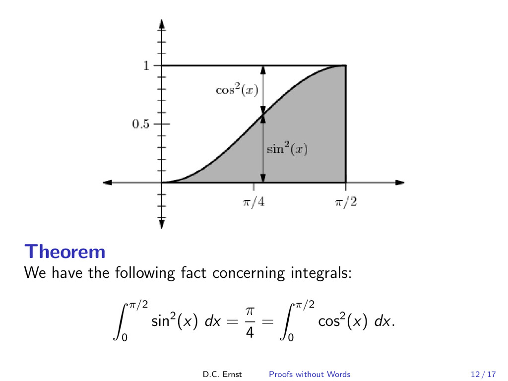 Theorem We have the following fact concerning i...