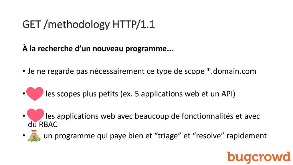 GET /methodology HTTP/1.1 À la recherche d'un n...