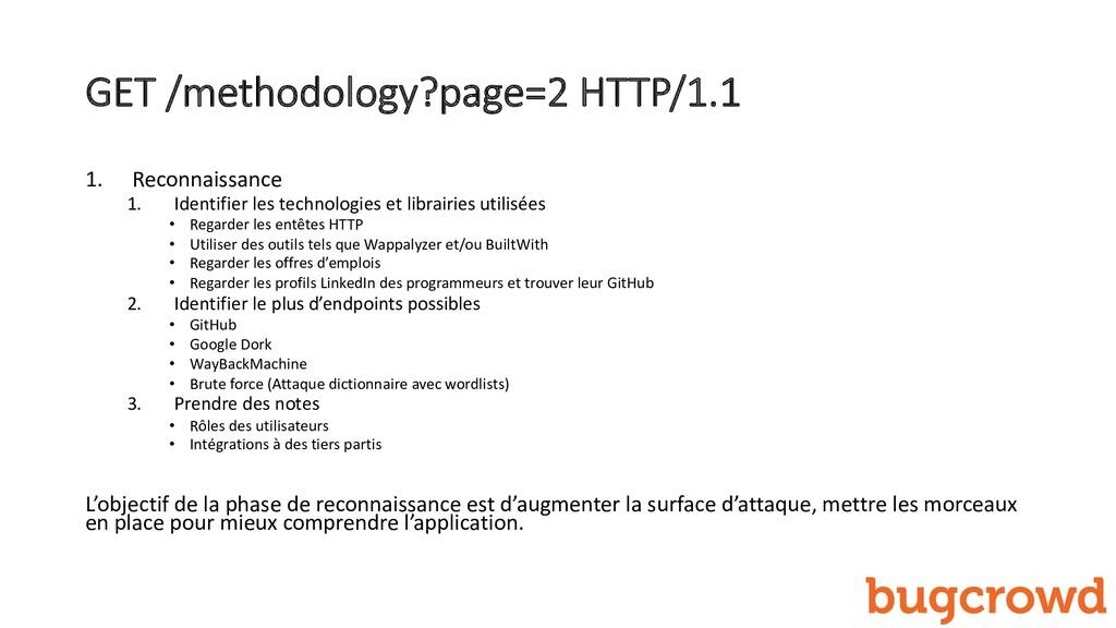 GET /methodology?page=2 HTTP/1.1 1. Reconnaissa...