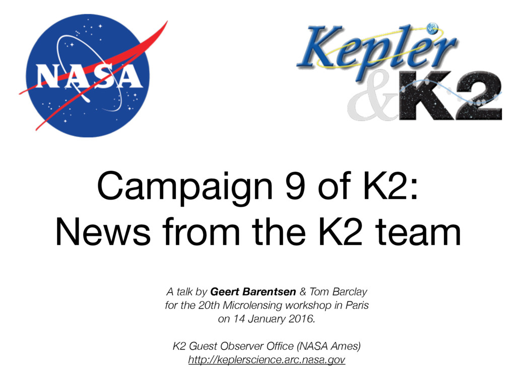 Campaign 9 of K2:
