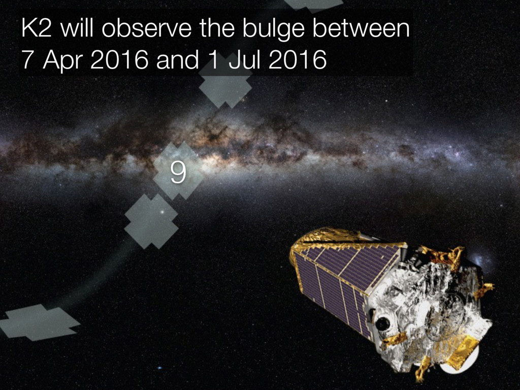 9 K2 will observe the bulge between