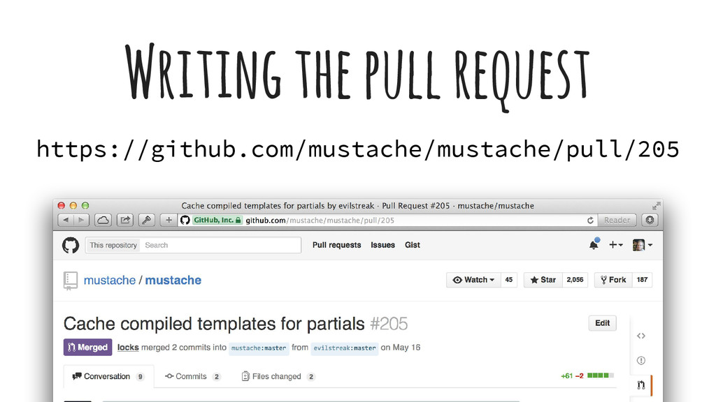 Writing the pull request https://github.com/mus...