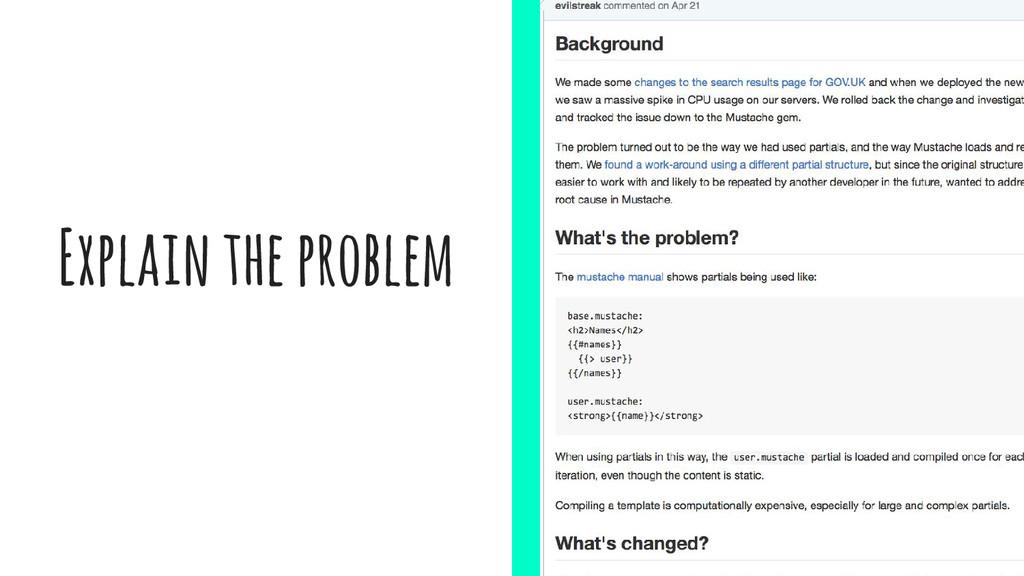 Explain the problem