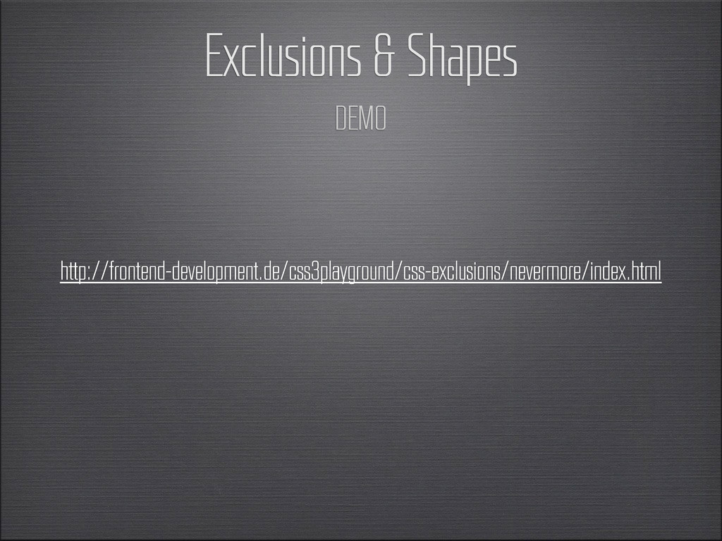 Exclusions & Shapes DEMO http://frontend-develo...