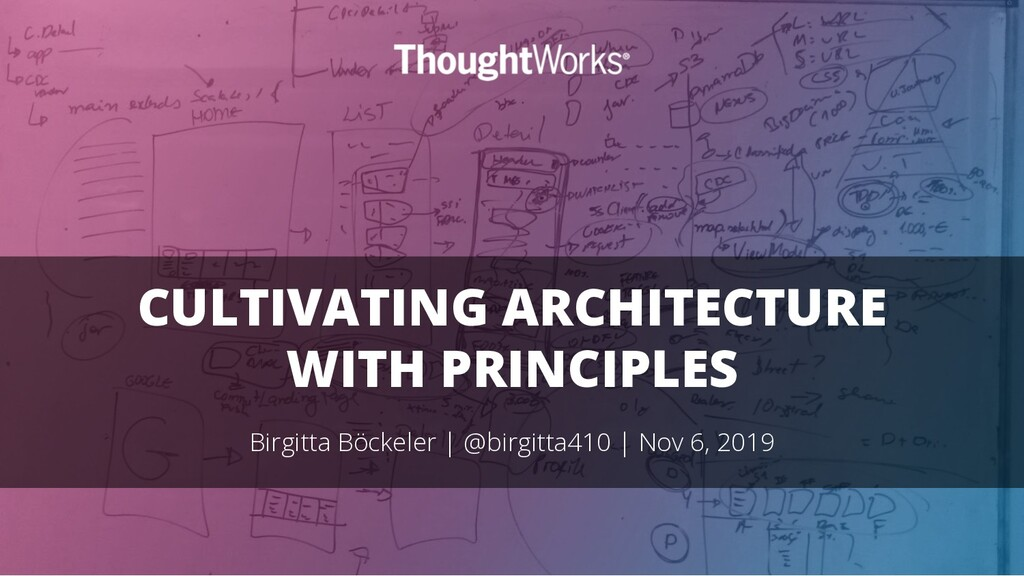 CULTIVATING ARCHITECTURE WITH PRINCIPLES Birgit...