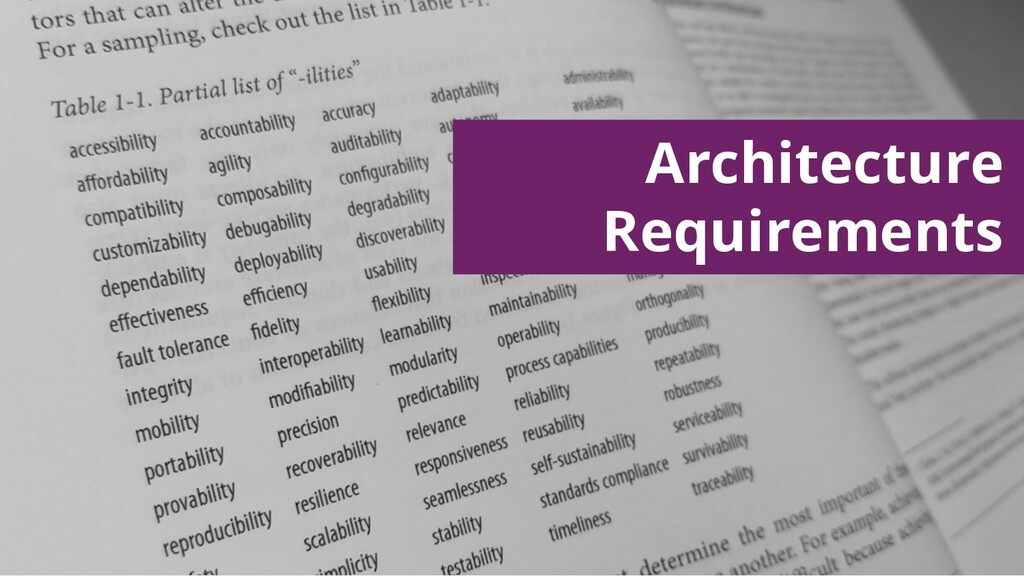 Architecture Requirements