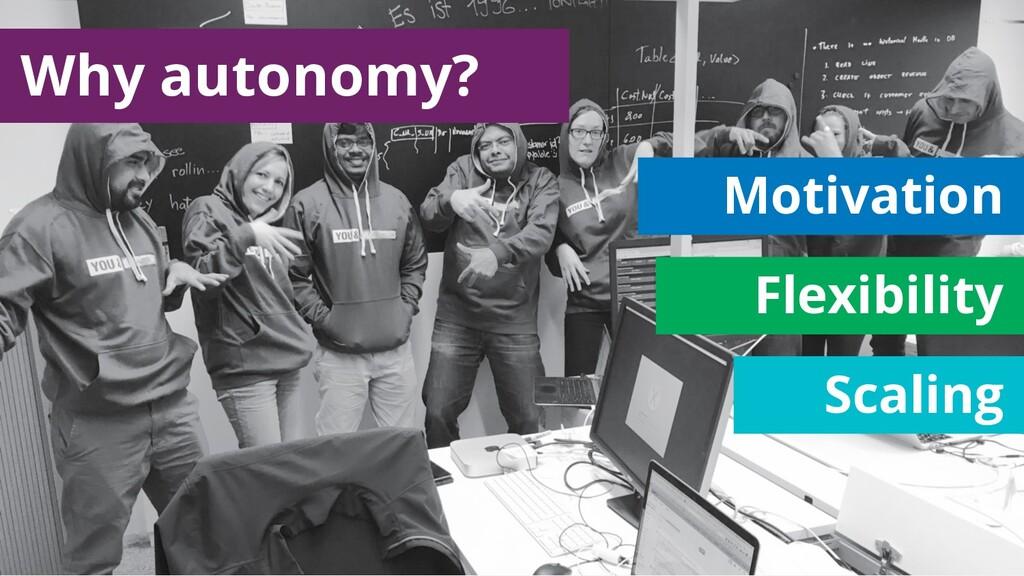 Motivation Flexibility Scaling Why autonomy?