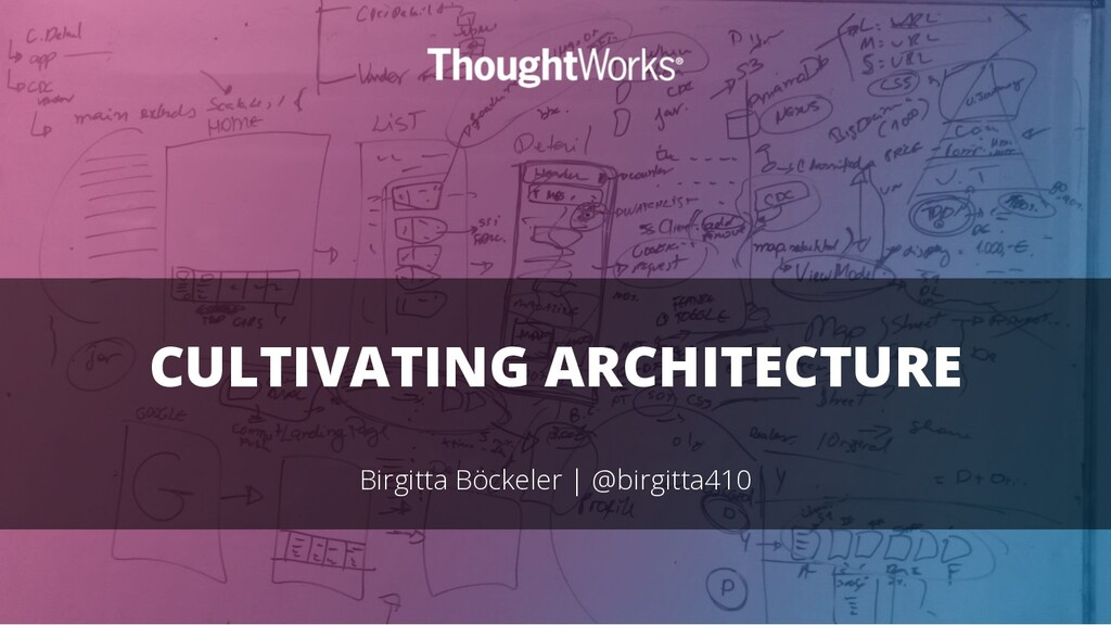 CULTIVATING ARCHITECTURE Birgitta Böckeler | @b...