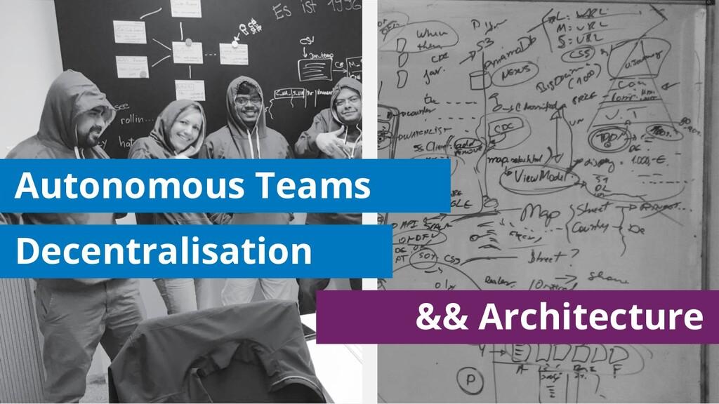 Decentralisation Autonomous Teams && Architectu...