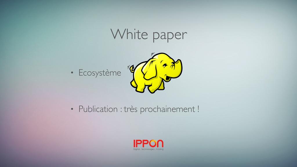 White paper • Ecosystème • Publication : très p...