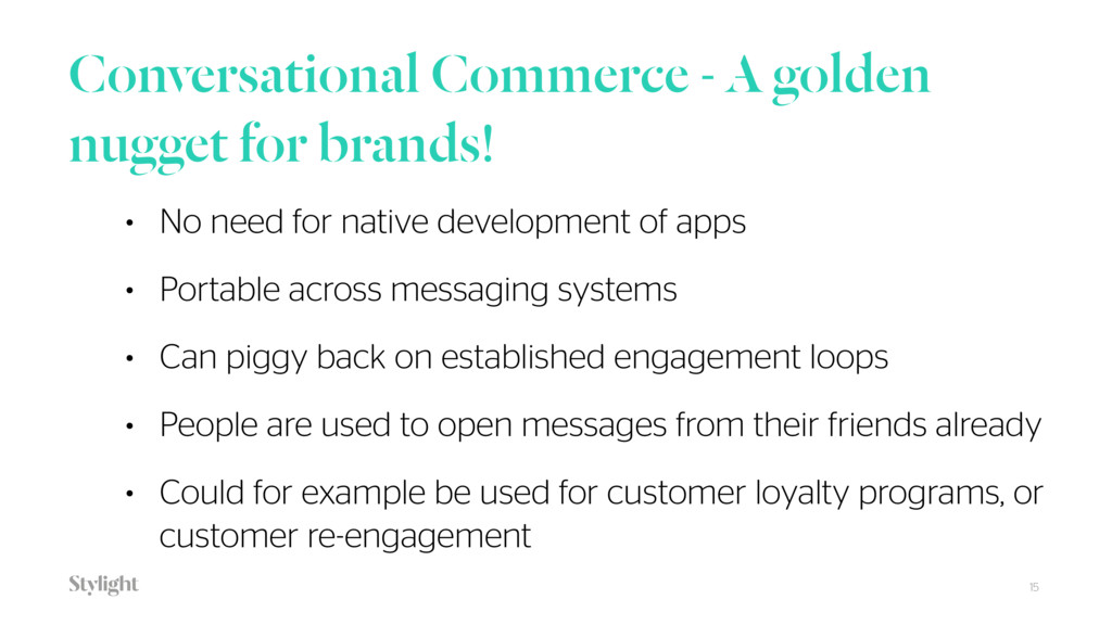 Conversational Commerce - A golden nugget for b...