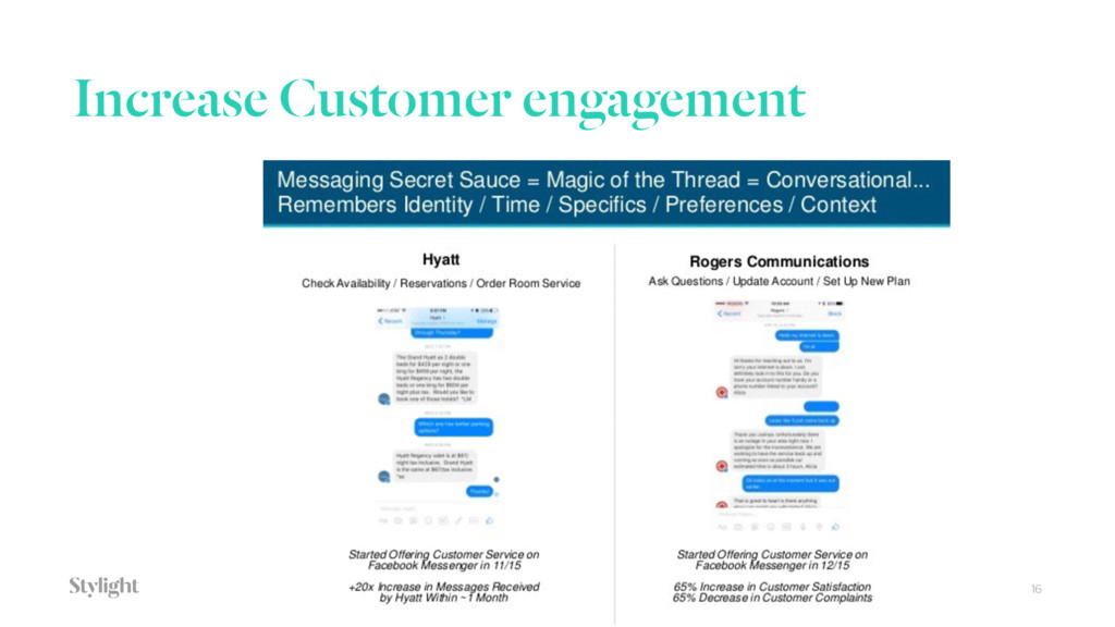Increase Customer engagement 16