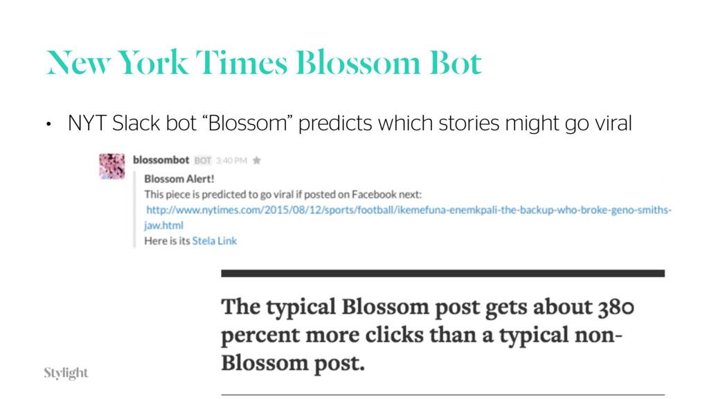 """New York Times Blossom Bot 32 • NYT Slack bot """"..."""