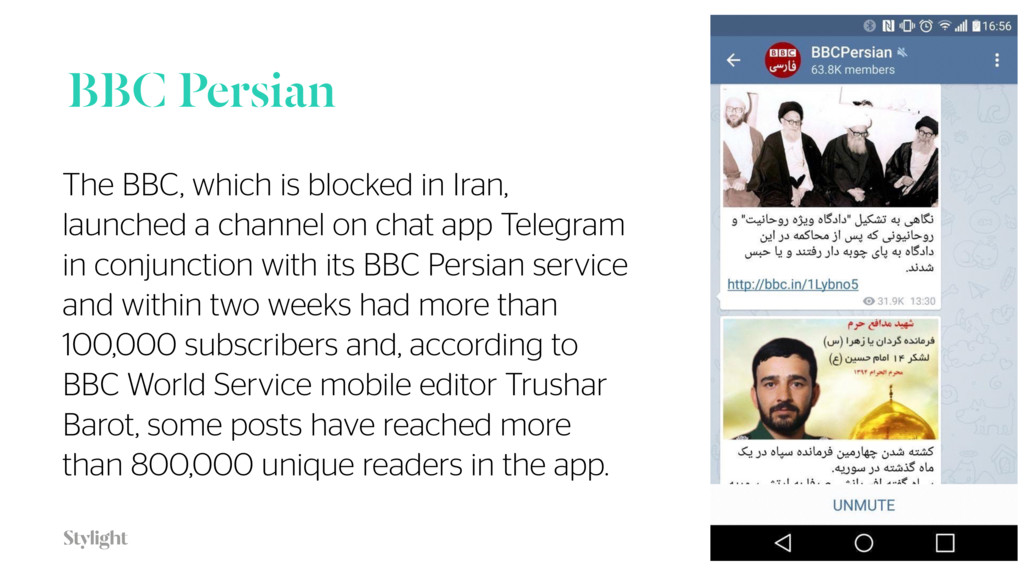 BBC Persian 34 The BBC, which is blocked in Ira...