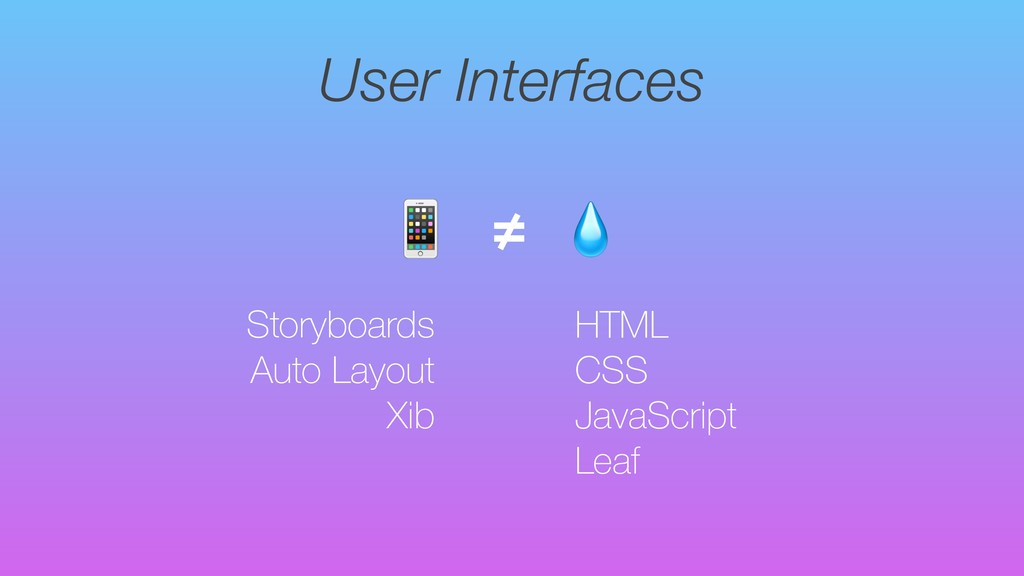 User Interfaces Storyboards Auto Layout Xib  ≠ ...