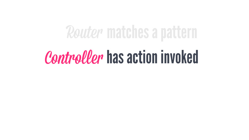 matches a pattern Router has action invoked Con...