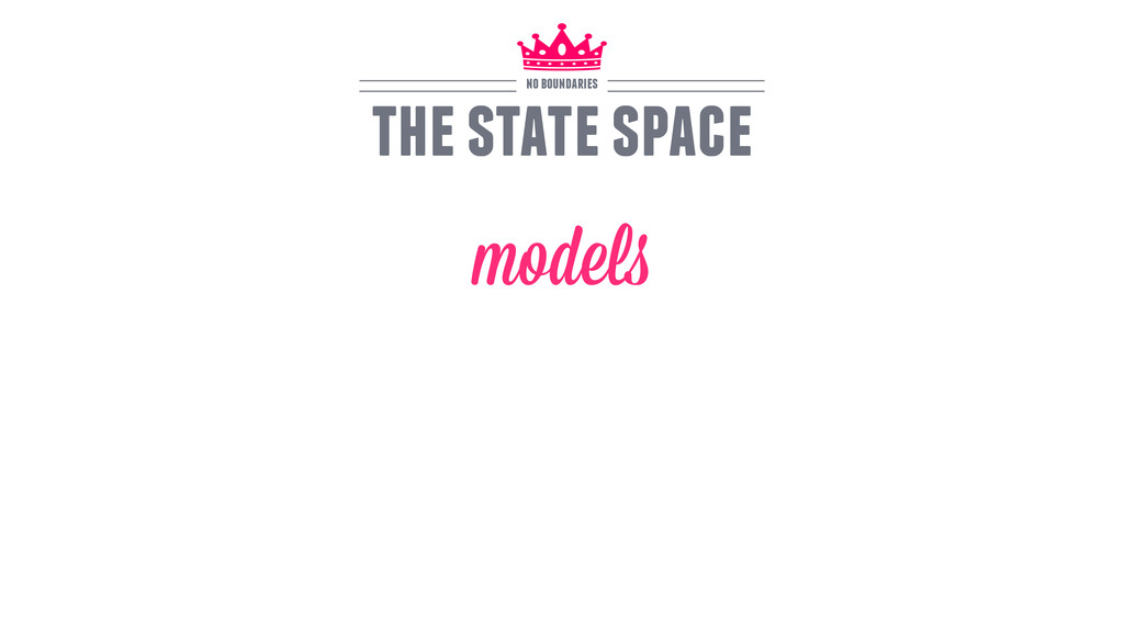 models the state space no boundaries