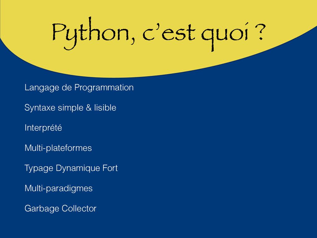 Python, c'est quoi ? Langage de Programmation S...