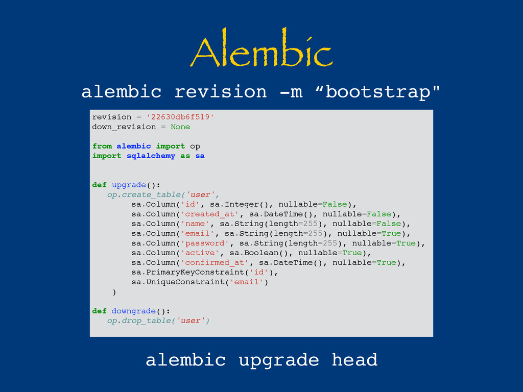 Alembic revision = '22630db6f519' down_revision...