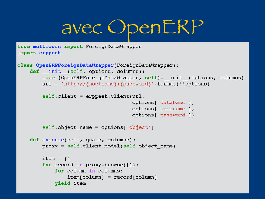 avec OpenERP from multicorn import ForeignDataW...