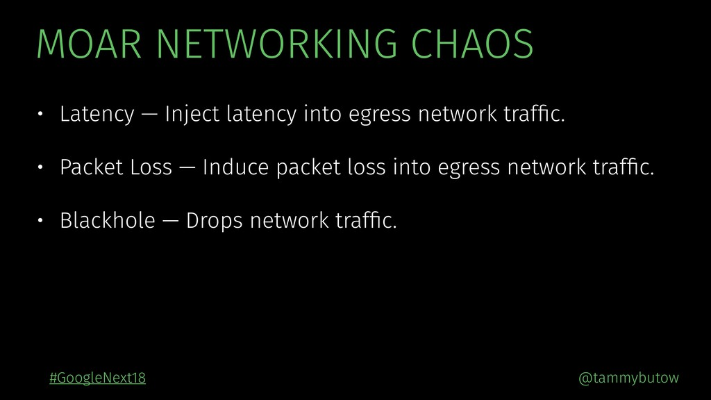 @tammybutow #GoogleNext18 MOAR NETWORKING CHAOS...