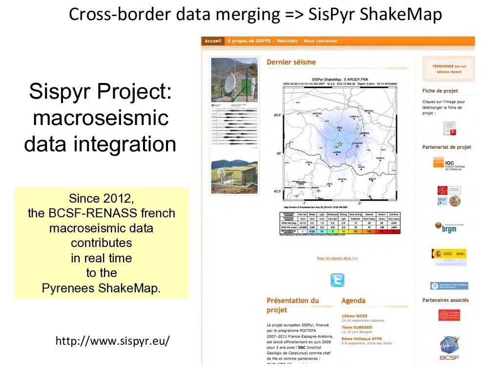 Sispyr Project: macroseismic data integration S...