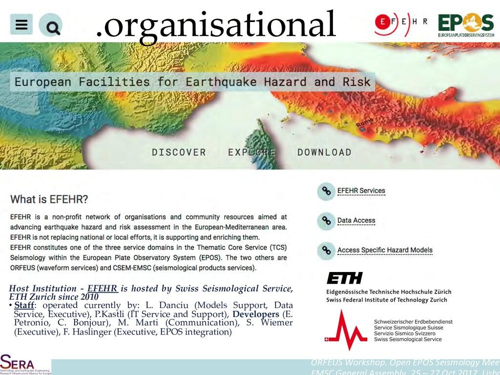 ORFEUS Workshop. Open EPOS Seismology Meet Host...