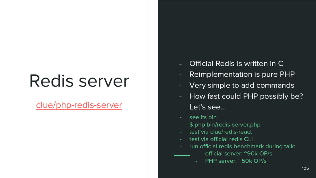Redis server 105 clue/php-redis-server - Offici...