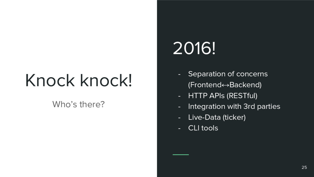 Knock knock! 2016! - Separation of concerns (Fr...