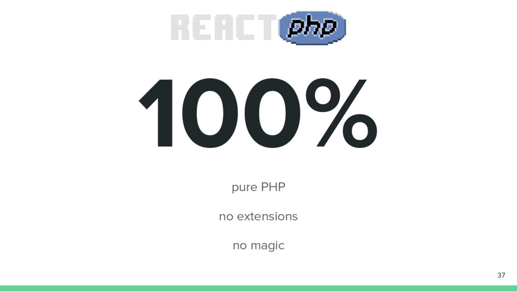 100% pure PHP no extensions no magic 37