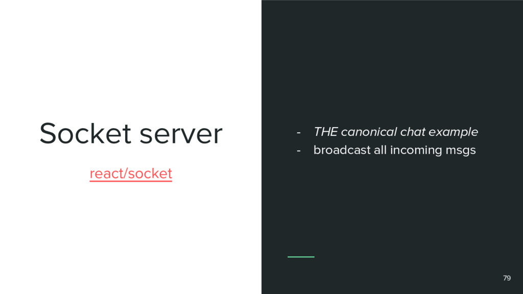 Socket server 79 react/socket - THE canonical c...