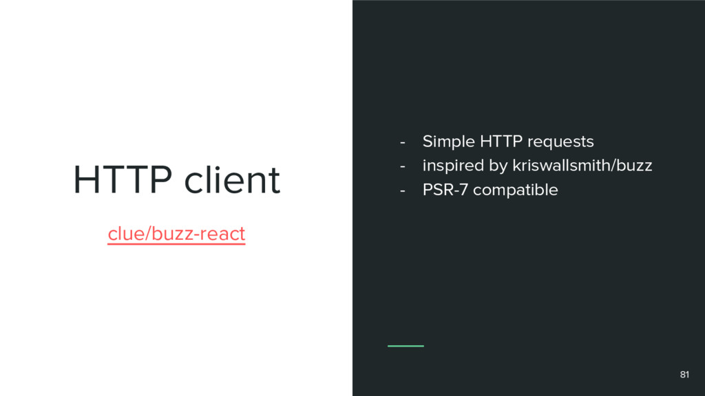 HTTP client 81 clue/buzz-react - Simple HTTP re...