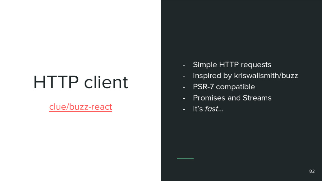 HTTP client 82 clue/buzz-react - Simple HTTP re...