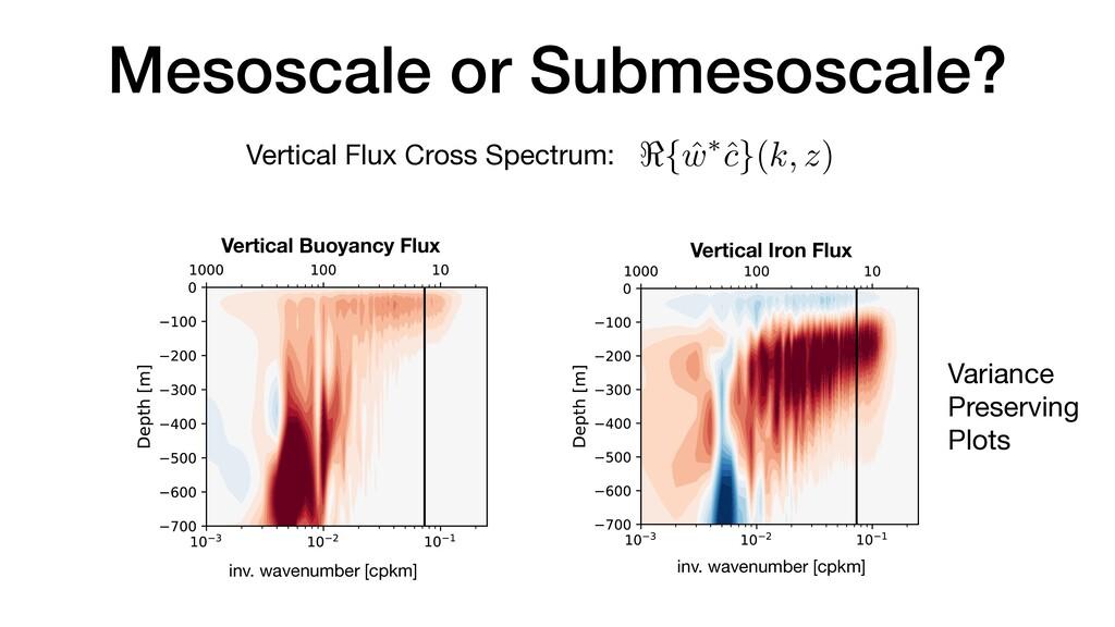 Mesoscale or Submesoscale? <{ ˆ w⇤ˆ c}(k, z) e ...