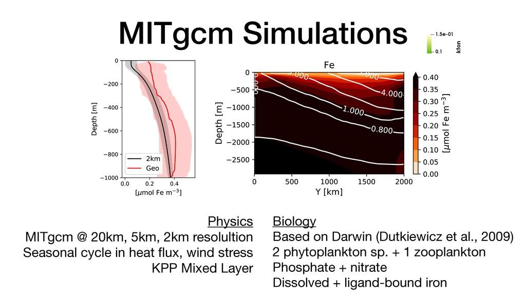 MITgcm Simulations Physics  MITgcm @ 20km, 5km,...