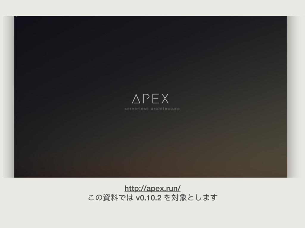 http://apex.run/ ͜ͷྉͰ v0.10.2 Λରͱ͠·͢
