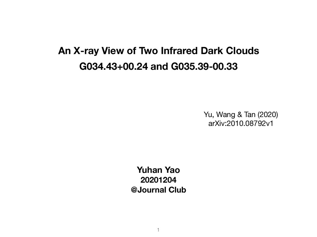 An X-ray View of Two Infrared Dark Clouds G034....