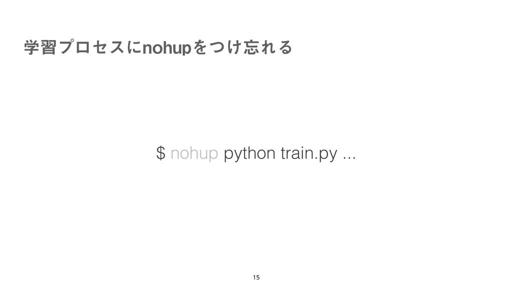 ֶशϓϩηεʹOPIVQΛ͚ͭΕΔ   $ nohup python train.py...