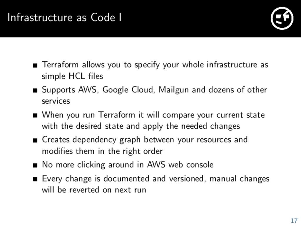 Infrastructure as Code I Terraform allows you t...