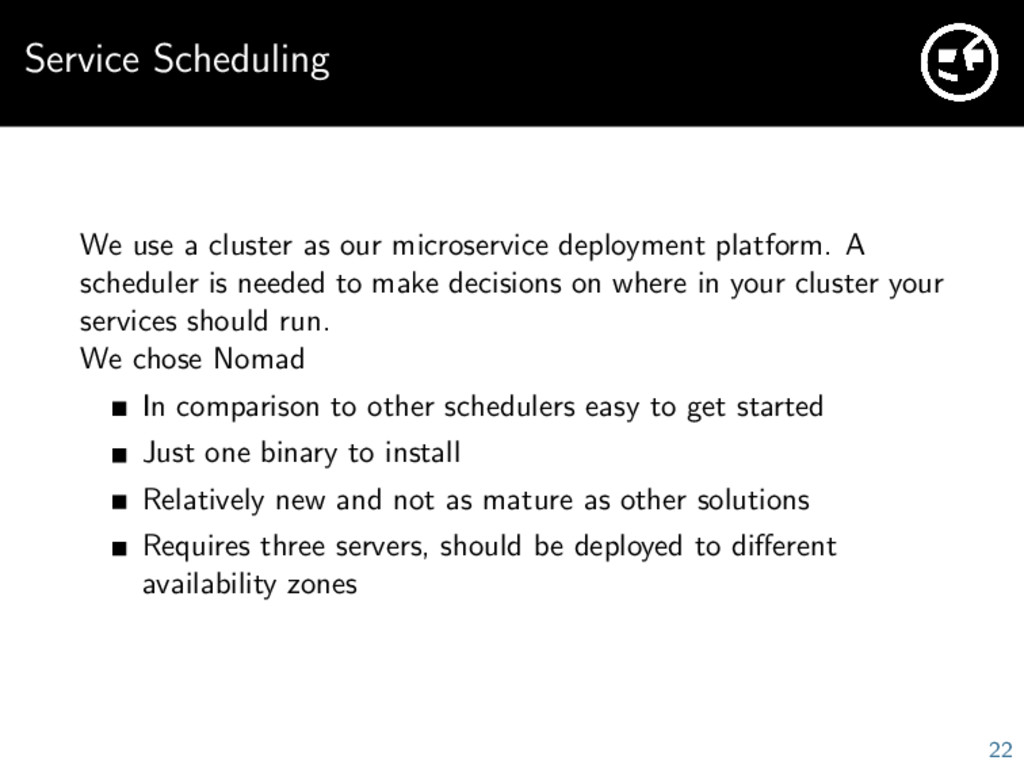 Service Scheduling We use a cluster as our micr...
