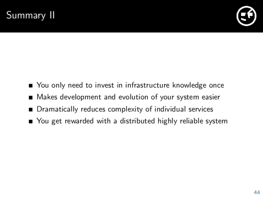 Summary II You only need to invest in infrastru...