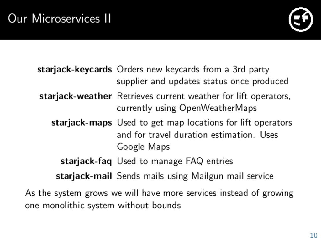 Our Microservices II starjack-keycards Orders n...
