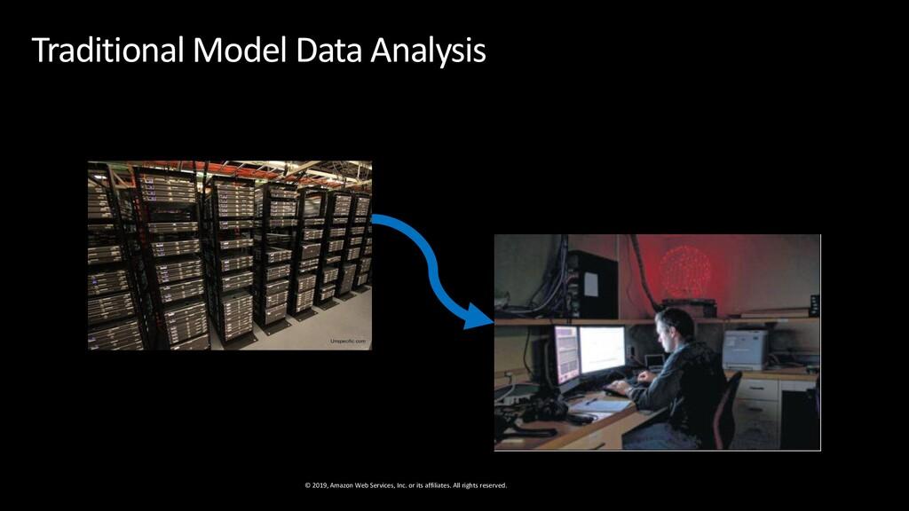 Traditional Model Data Analysis © 2019, Amazon ...