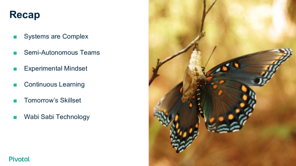 Cover w/ Image Recap ■ Systems are Complex ■ ...