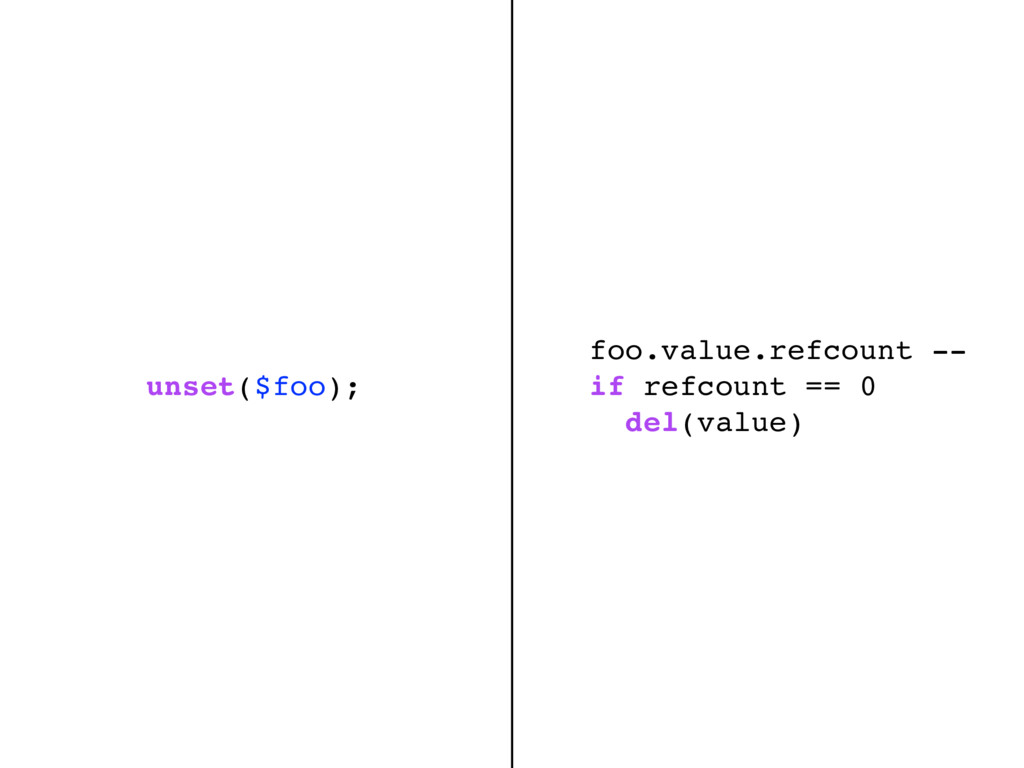 foo.value.refcount -- if refcount == 0 del(valu...