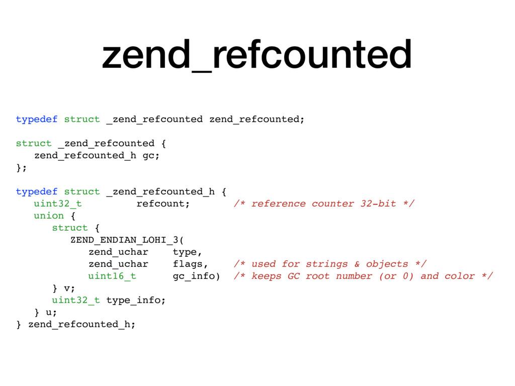 zend_refcounted typedef struct _zend_refcounted...