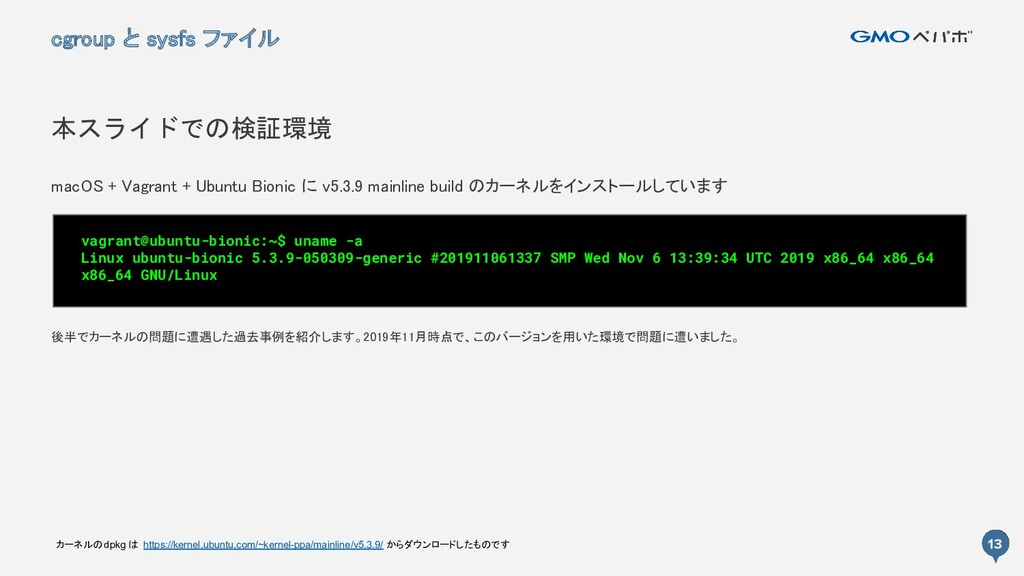 13 macOS + Vagrant + Ubuntu Bionic に v5.3.9 mai...