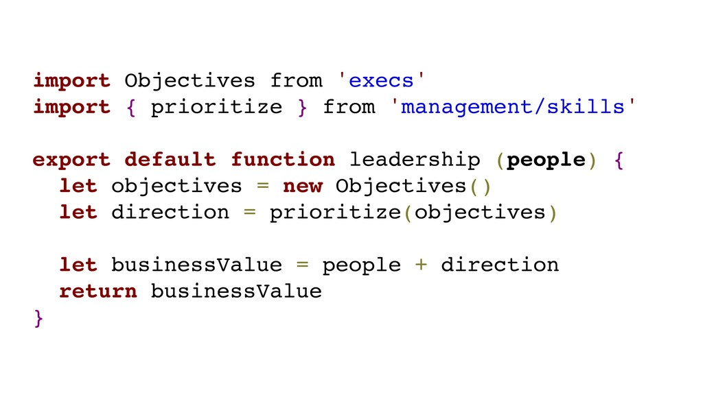 import Objectives from 'execs' import { priorit...