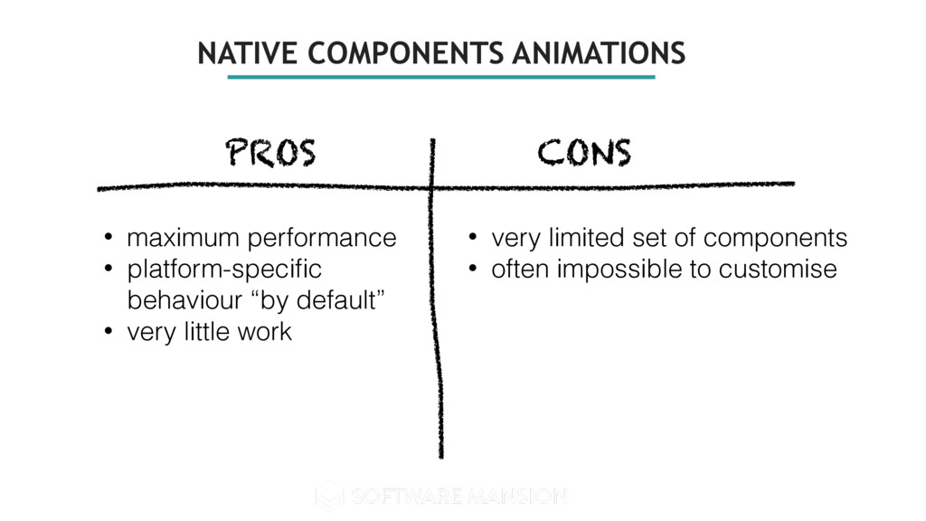 NATIVE COMPONENTS ANIMATIONS PROS CONS • maximu...