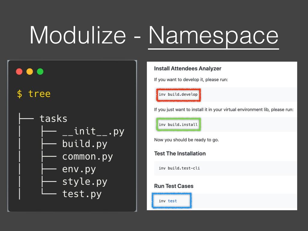 Modulize - Namespace